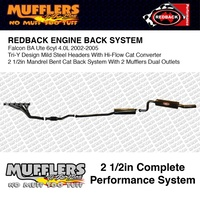 Redback Header Back System 2 1/2 Suitable For Falcon BA XT Ute XR6 Tub 4.0L