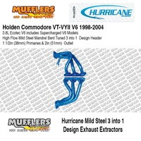Hurricane Headers Suitable For Commodore VT VY II 6cyl