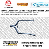 Hurricane Y Pipe Needed for HU331STM Suitable For Commodore VT VY 6cyl Manual