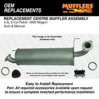 Front Muffler Suitable For Landcruiser FZJ105 4.5L 6cyl Petrol 4WD